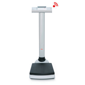 electronic patient weighing scales / with digital display / platform / column type