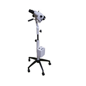 binocular colposcope / trolley-mounted