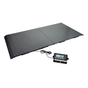 electronic veterinary weighing scales / for large animals / with LCD display / platform