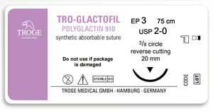 absorbable suture thread / ophthalmic surgery / urogynecological surgery / gastrointestinal surgery