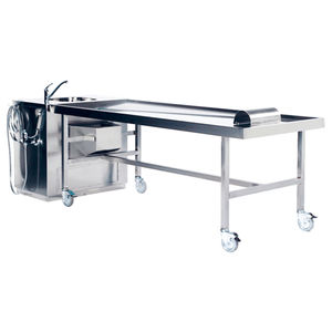 embalming workstation on casters / stainless steel