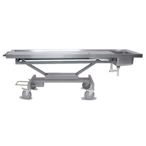 autopsy table / dissection / rectangular / on casters