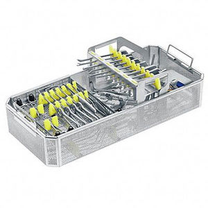 instrument sterilization basket / stainless steel / perforated