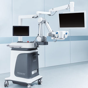 microscope holding surgical robot