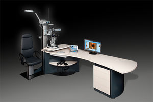 ophtalmic workstation / with chair / with light / with monitor
