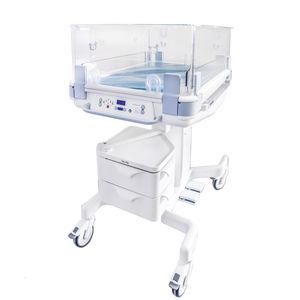 height-adjustable hospital bassinet / transparent / warming