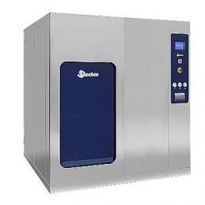 laboratory autoclave / floor-standing / with sliding door / high-capacity