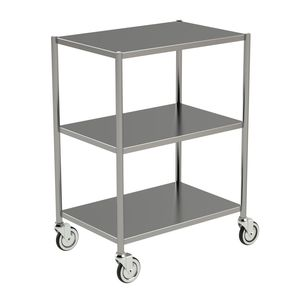 storage trolley / for general purpose / 3-tray / medical