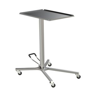 height-adjustable Mayo table / on casters / stainless steel