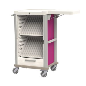 transport trolley / medical records / horizontal-access / secure