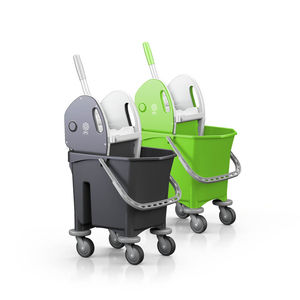 cleaning trolley / waste / with tray / with bucket