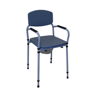 commode chair with armrests