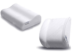 traditional pillow / visco-elastic foam / anatomical / memory