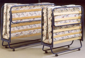 visitor bed / medical / folding / on casters