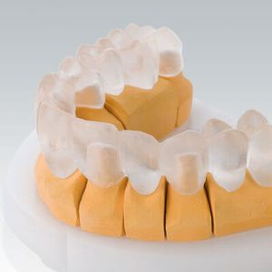 PMMA dental material / for dental restorations / CAD/CAM / transparent