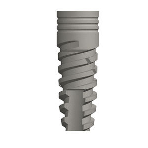 cylindro-conical dental implant / titanium / internal hexagon