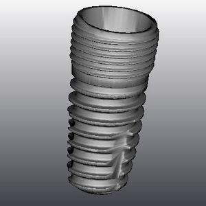 cylindrical dental implant / titanium / internal hexagon / self-tapping
