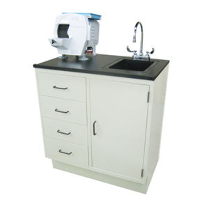 dental laboratory workstation with sink