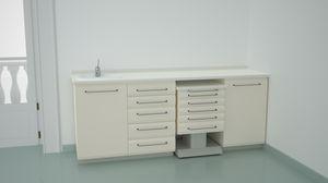 dental laboratory bench / sterilization / with sink / modular