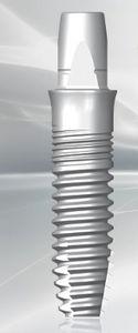 cylindrical dental implant / zirconia / external / one-piece