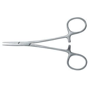 orthodontic ring placement forceps / hemostatic / straight / stainless steel