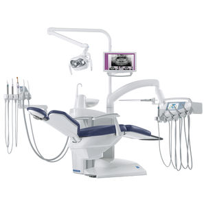 dental treatment unit with monitor