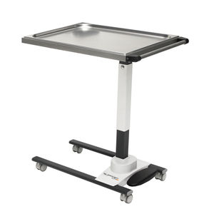 instrument table on casters / height-adjustable / stainless steel / painted steel