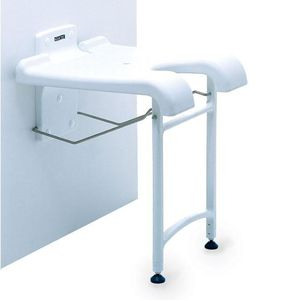 shower seat / with cutout seat / wall-mounted / fold-down