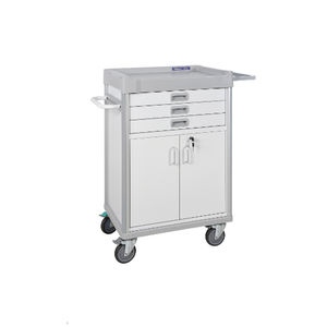hospital cabinet / with drawer / 2-door / mobile