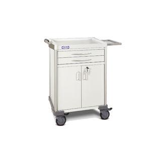 hospital cabinet / 2-drawer / 2-door / mobile