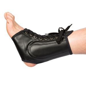 ankle orthosis / lace-up / open heel