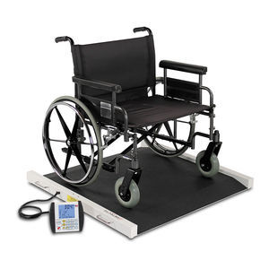 electronic platform scale / for wheelchairs / bariatric / with mobile display