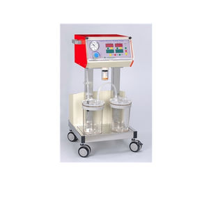 electric surgical suction pump / for gastric drainage / on casters