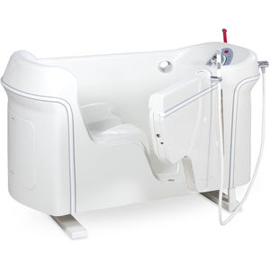 manual medical bathtub / with side access / with bath seat