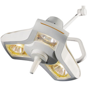 compact surgical light / ceiling-mounted / halogen