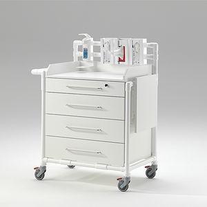 nursing cart / for general purpose / 4-drawer / with shelf