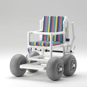 passive wheelchair / outdoor / beach / with legrest