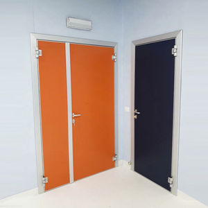 radiology service door / swing / for healthcare facilities / with glass panel
