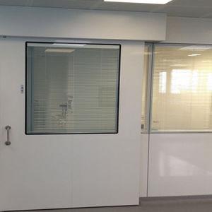 sliding door / hospital / for healthcare facilities / laboratory