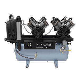 dental compressor / 1-workstation / with air dryer / membrane