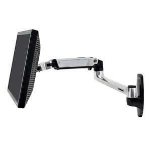 wall-mounted monitor support arm / medical / articulated / folding