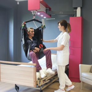 electric patient lift / free-standing / wall-mounted / height-adjustable