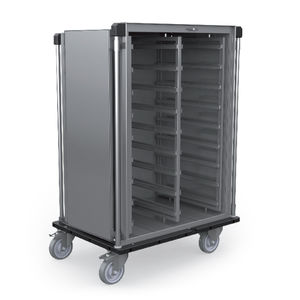 sterile material cabinet / with door / mobile / stainless steel