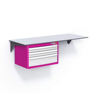worktop with drawer / wall-mounted