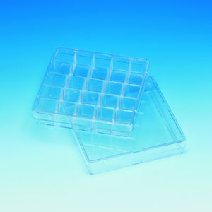 square Petri dish / with counting grid