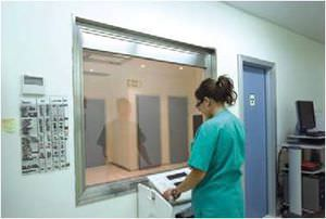 viewing window / laboratory / hospital / radiation protection
