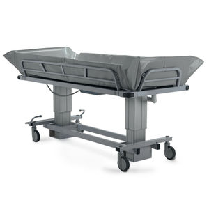 height-adjustable shower trolley / electric / bariatric