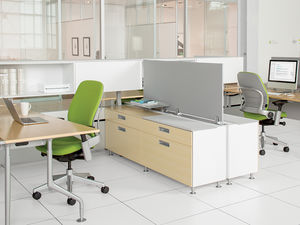 rectangular desk / workstation / with drawer / modular