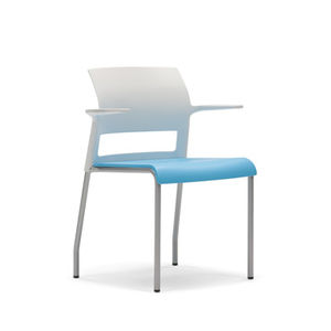 waiting room chair / with armrests / stackable