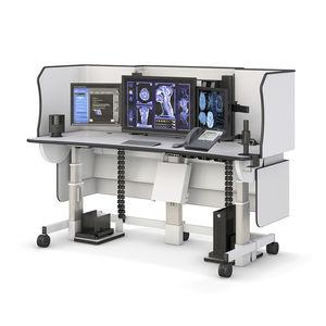 medical computer workstation / radiology / height-adjustable / mobile